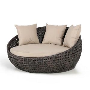 Maze Rattan Garden Furniture Amore Brown Daybed
