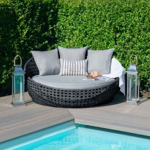 Maze Rattan Garden Furniture Amore Grey Daybed