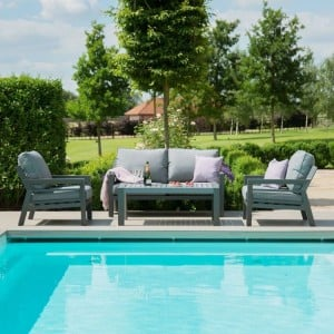 Maze Lounge Outdoor Fabric New York 2 Seat Sofa Set - PRE ORDER