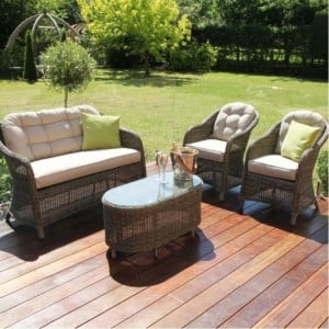Maze Rattan Garden Furniture Winchester Garden Heritage 2 Seat Sofa Set