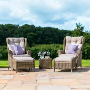Maze Rattan Garden Furniture Winchester High Back Lounge Set