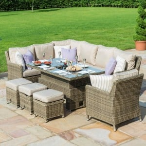 Maze Garden Furniture Winchester Kingston Ice Bucket Corner Rising Table Armchair Set