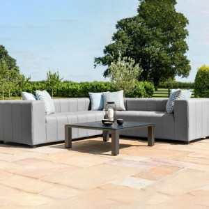 Maze Lounge Outdoor Fabric Nexus Corner Group in Flanelle