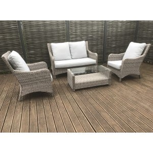 Signature Weave Alexandra 2 Seater Sofa Set With Blue Cushions