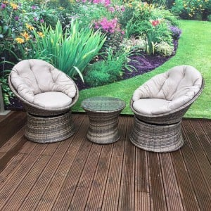 Signature Weave Annabel Nature Swivel Chair Set
