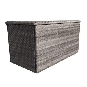 Signature Weave Triple Weave Grey Large Cushion Storage Box