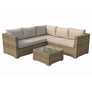 Signature Weave Garden Furniture Georgia Nature Compact Corner Lounge Set