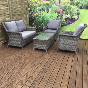 Signature Weave Garden Furniture Mia Grey 2 Seater Sofa Set
