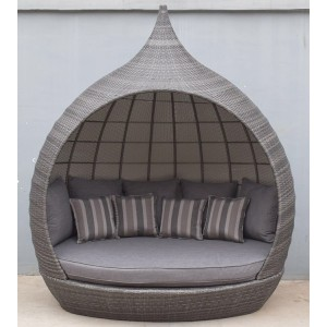 Signature Weave Garden Furniture Pearl Grey Daybed