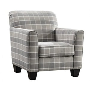 Vida Living Braemar Beige Check Accent Chair