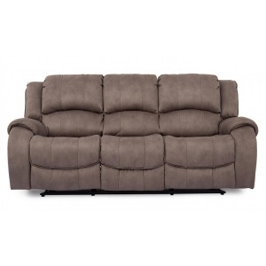 Vida Living Darwin Smoke 3 Seater Recliner Sofa