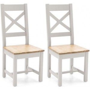 Vida Living Ferndale Painted Cross Back Pair of Chairs