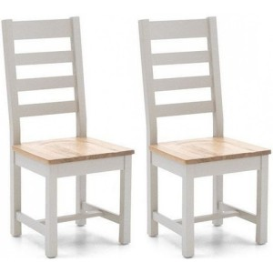 Vida Living Ferndale Painted Ladder Back Pair of Chairs