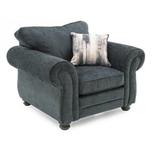 Vida Living Hollins Charcoal 1 Seater Armchair