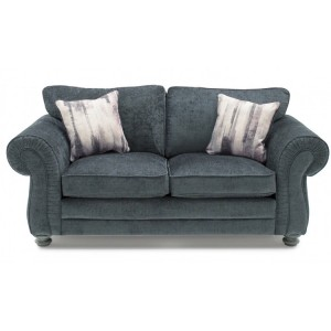 Vida Living Hollins Charcoal Fixed 2 Seater Sofa