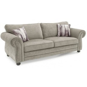 Vida Living Hollins Mink Fixed 3 Seater Sofa