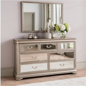 Vida Living Jessica Mirrored 3 Over 4 Dressing Chest