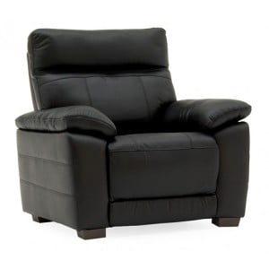 Vida Living Positano Black 1 Seater Fixed Armchair