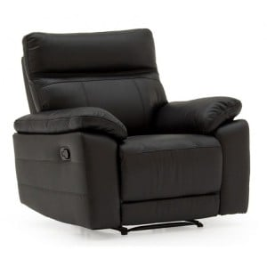 Vida Living Positano Black 1 Seater Recliner Armchair