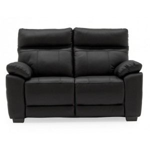 Vida Living Positano Black 2 Seater Fixed Sofa