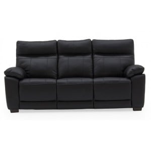 Vida Living Positano Black 3 Seater Fixed Sofa