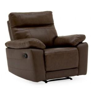 Vida Living Positano Brown 1 Seater Recliner Armchair