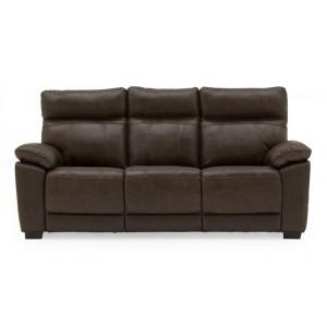 Vida Living Positano Brown 3 Seater Fixed Sofa