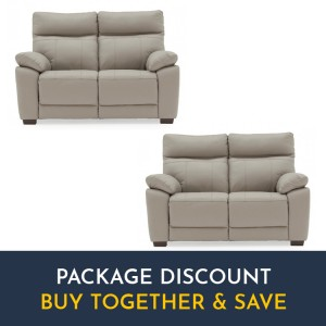 Vida Living Positano Light Grey 2 Seater Fixed Sofa Set x 2