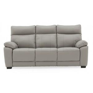 Vida Living Positano Light Grey 3 Seater Fixed Sofa