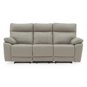 Vida Living Positano Light Grey 3 Seater Recliner Sofa