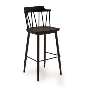 Vida Living Blake Bar Chair Black Elm