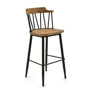 Vida Living Blake Bar Chair Natural Elm