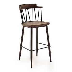 Vida Living Blake Bar Chair Rustic Elm