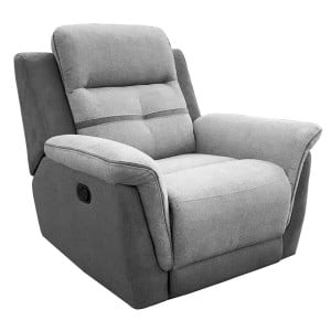Vida Living Dawson Grey 1 Seater Recliner Armchair