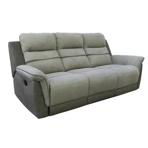 Vida Living Dawson Grey 3 Seater Recliner Sofa