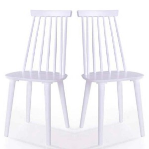 Vida Living Isla Spindle White Dining Chair Pair