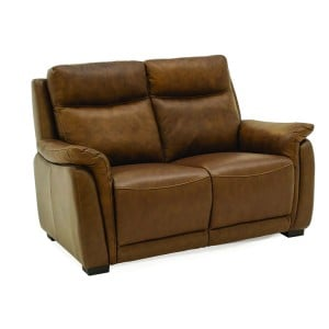 Vida Living Francesco Tan Brown 2 Seater Fixed Sofa