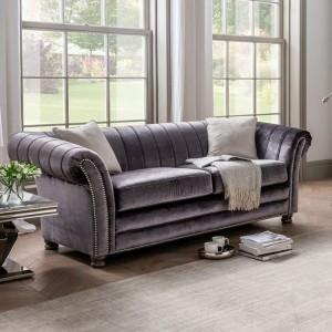 Vida Living Giselle Charcoal 3 Seater Sofa