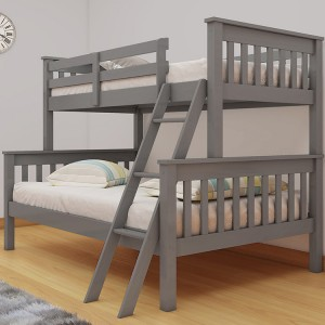Vida Living Dux Grey Double & Single Bunk Bed