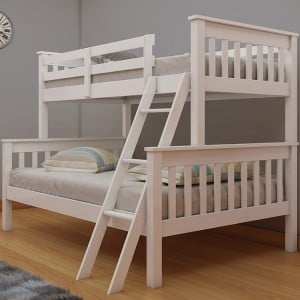 Vida Living Dux White Double & Single Bunk Bed