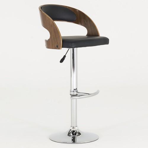 Vida Living Flair Black Bar Chair