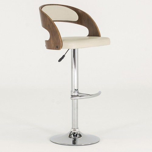 Vida Living Flair Cream Bar Chair
