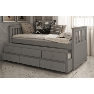 Vida Living Flos Grey Painted Pine 3ft Day Bed