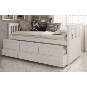 Vida Living Flos White Painted Pine 3ft Day Bed