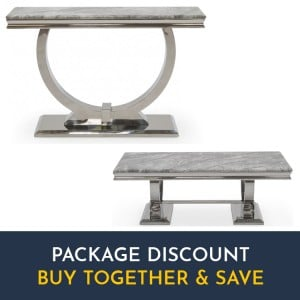 Vida Living Arianna Grey Coffee & Console Table Living Room Set
