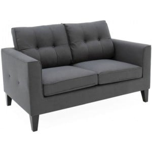 Vida Living Astrid Charcoal 2 Seater Sofa