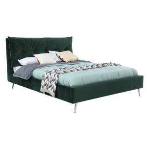 Vida Living Avery Upholstered 4ft6 Double Bed Green