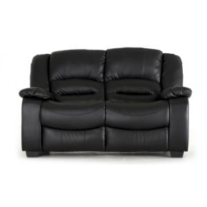 Vida Living Barletto Black 2 Seater Fixed Sofa