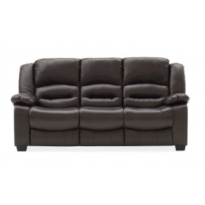 Vida Living Barletto Brown 3 Seater Fixed Sofa
