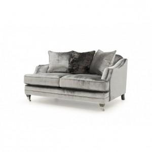 Vida Living Belvedere 2 Seater Sofa Pewter Velvet